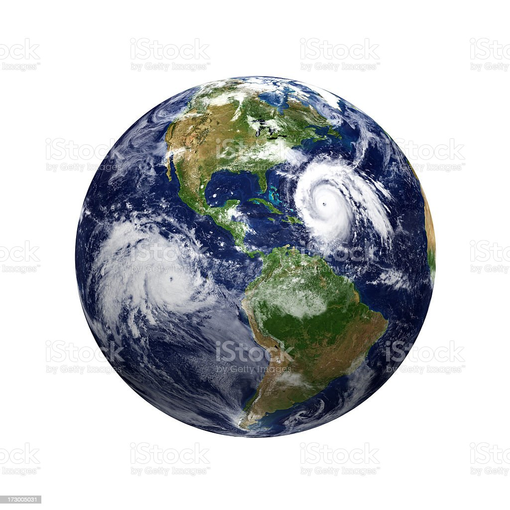 Typhoons - Earth view of America stock photo