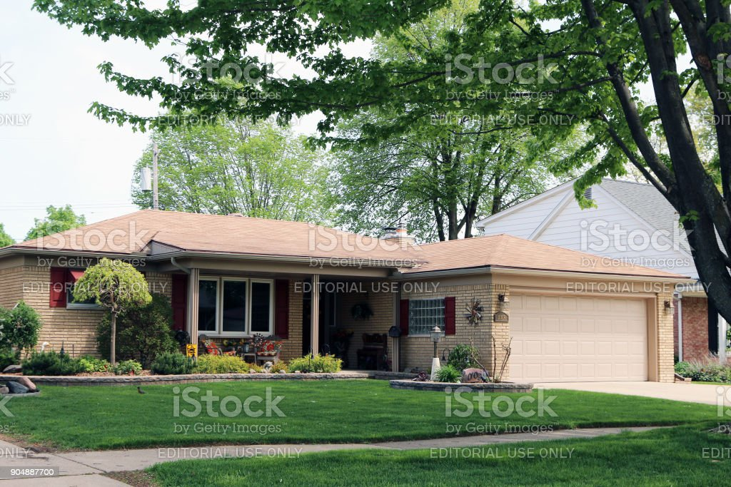 Typical 1960's home stock photo