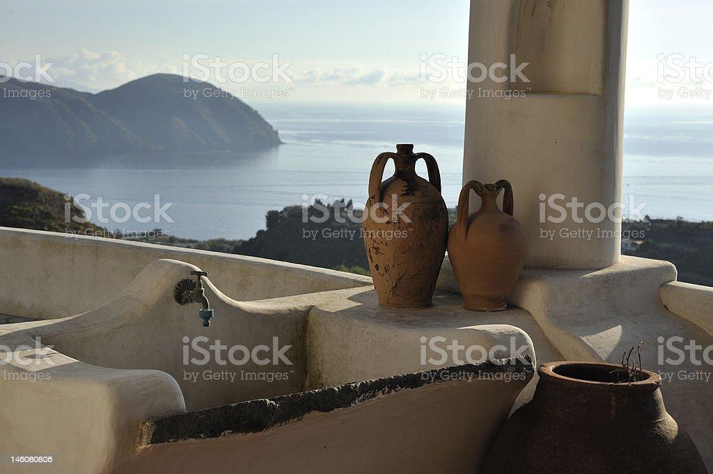typical Aeolian house stock photo