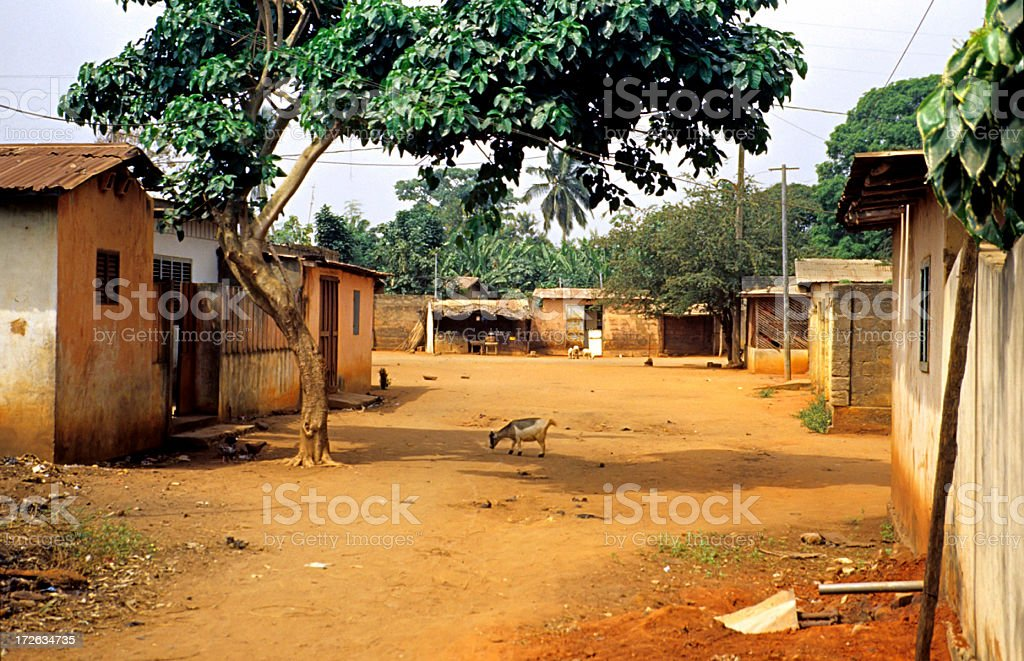 typical african street stock photo