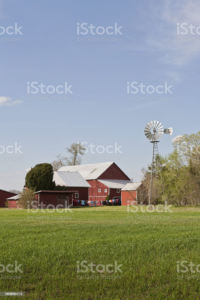 Typical American Countryside Farm royalty-free stock photo