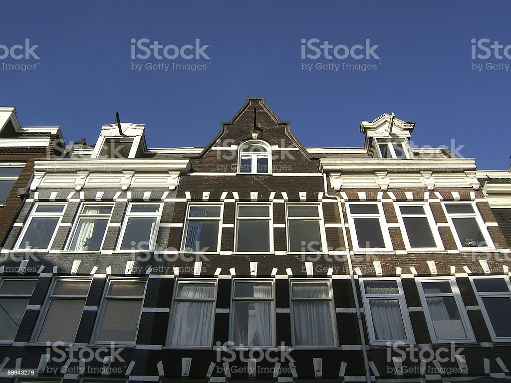Typical Amsterdam old facade royalty-free stock photo