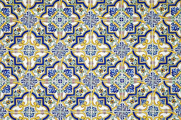 Typisch andalusischen gefliesten Wand – Foto