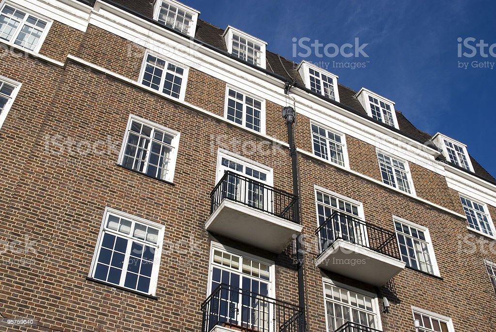 Typical Apartments Building at West-London. royalty-free stock photo