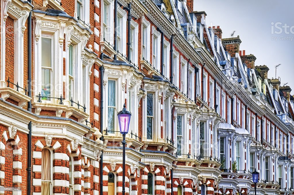 Typical Apartments Building at West-London. stock photo