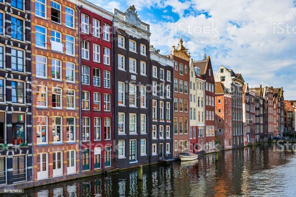 Typical architecture in Amsterdam. stock photo