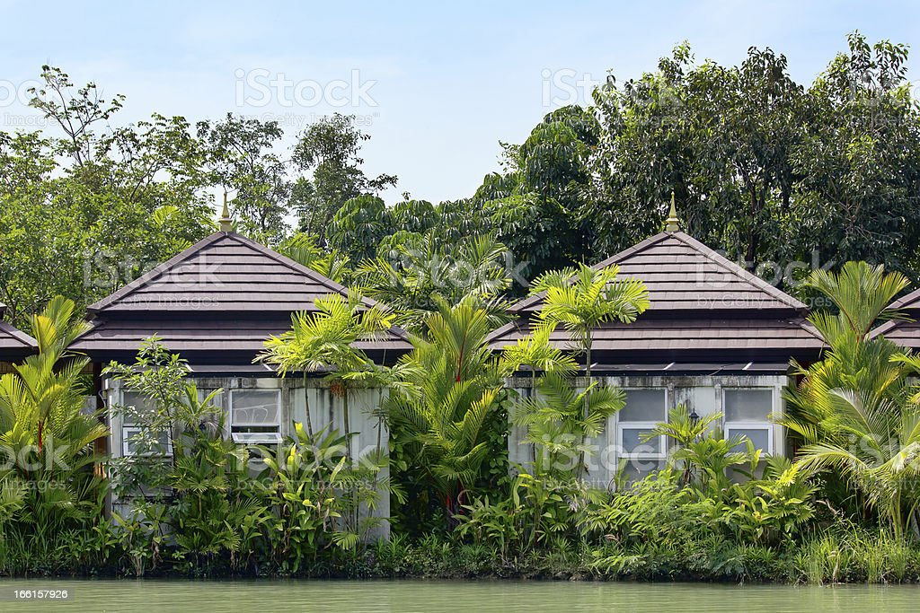 Typical Asian house on the waterfront royalty-free stock photo