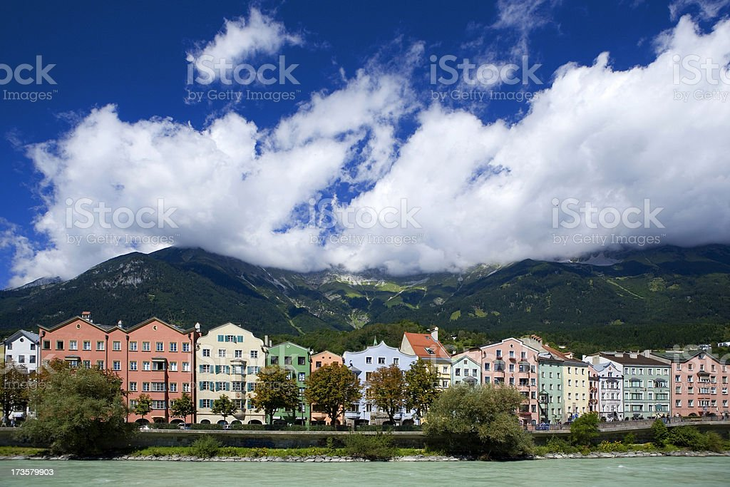 Typical Austrian houses royalty-free stock photo