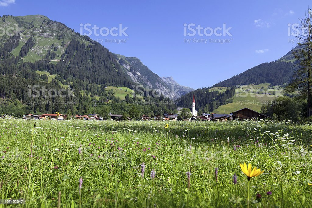 Typical Austrian Village stock photo