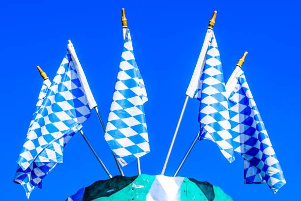 typisch bayerische Nationalflagge – Foto