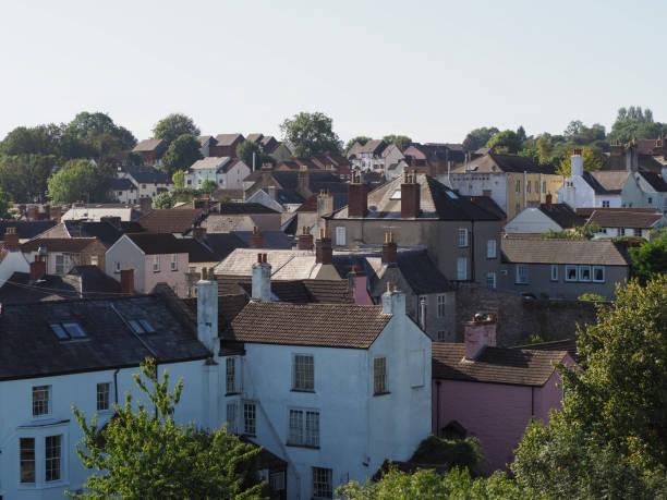 Typische britische Stadtdachlandschaft – Foto