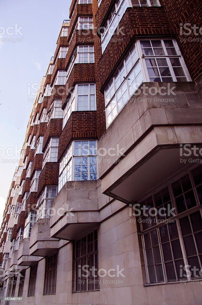typical British flats stock photo