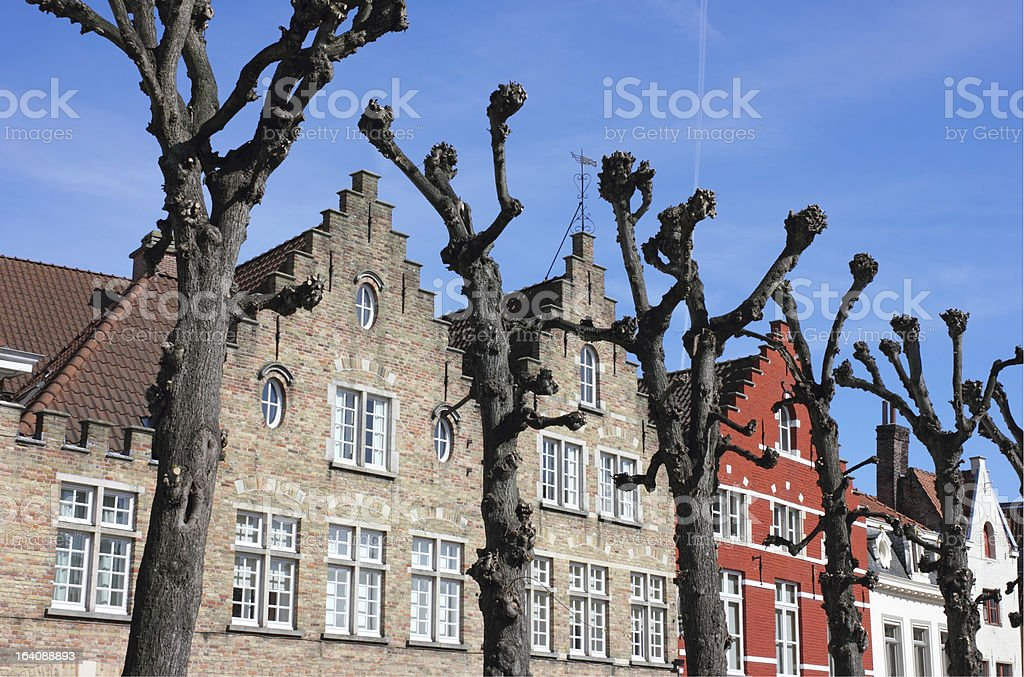 Typical Bruges Facades royalty-free stock photo