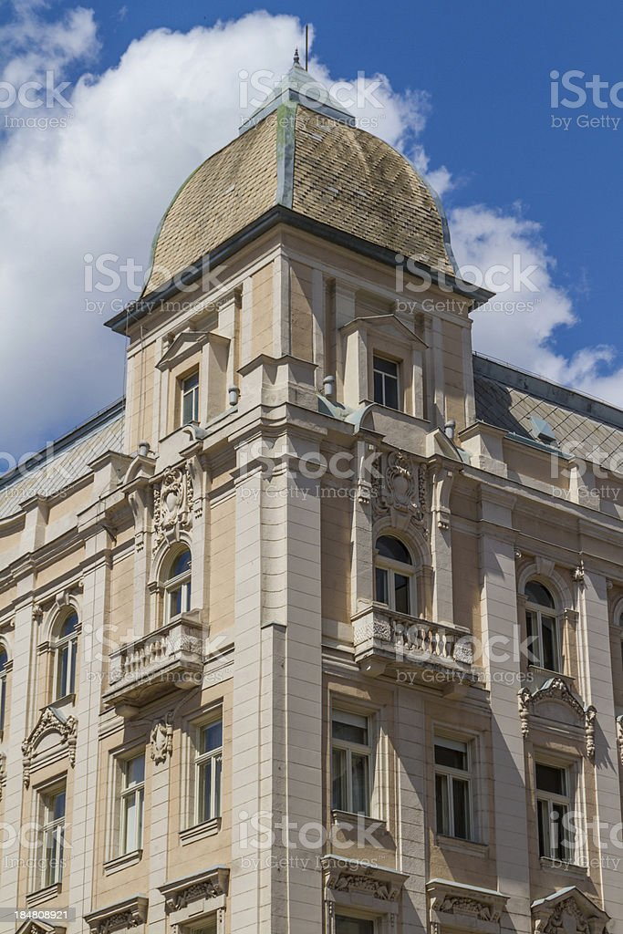 typical buildings 19th-century in Buda Castle district of Budape royalty-free stock photo