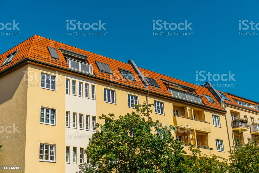 typical buildings in berlin stock photo