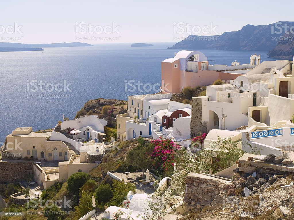 Typical buildings in Santorini royalty-free stock photo