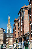 Typical buildings in the city centre of Rouen - Normandy, France