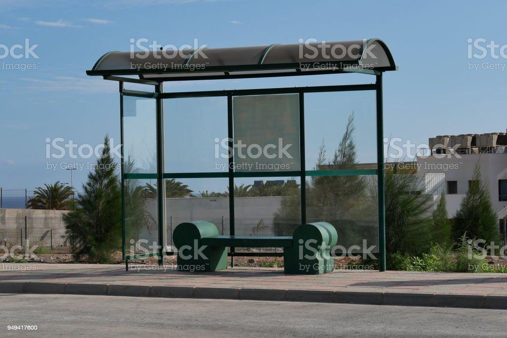 Typische Bushaltestelle auf Gran Canaria – Foto