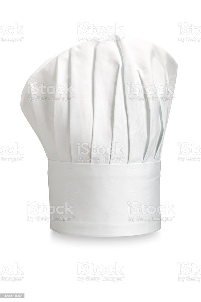 Typical Chefs hat on a white background stock photo
