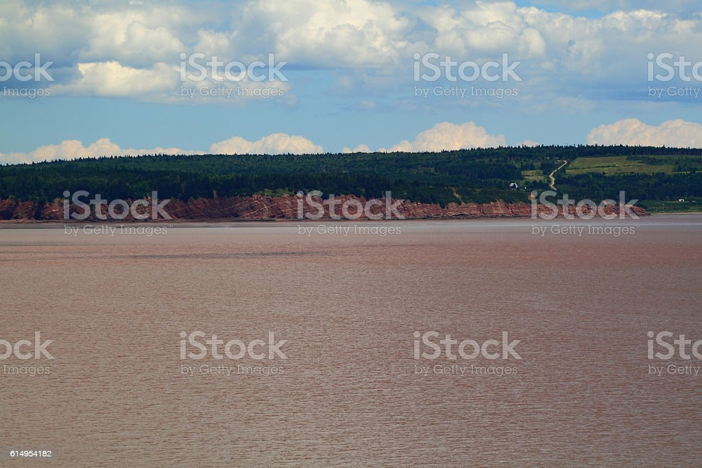 Typical coast line of Bay of Fundy, NB stock photo