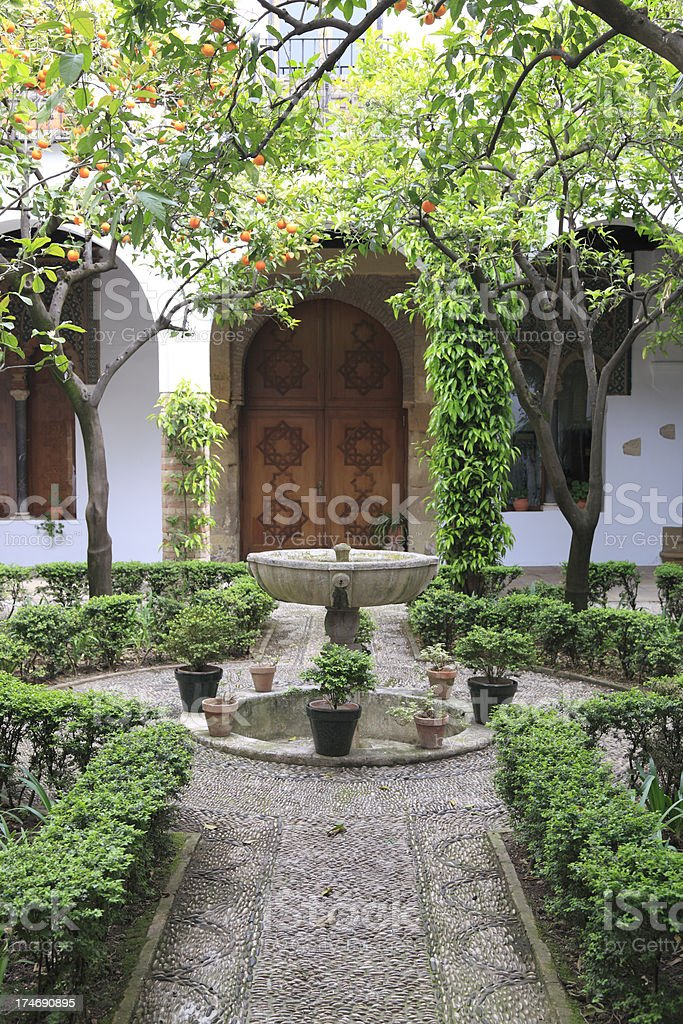 Typical Cordoban Patio stock photo