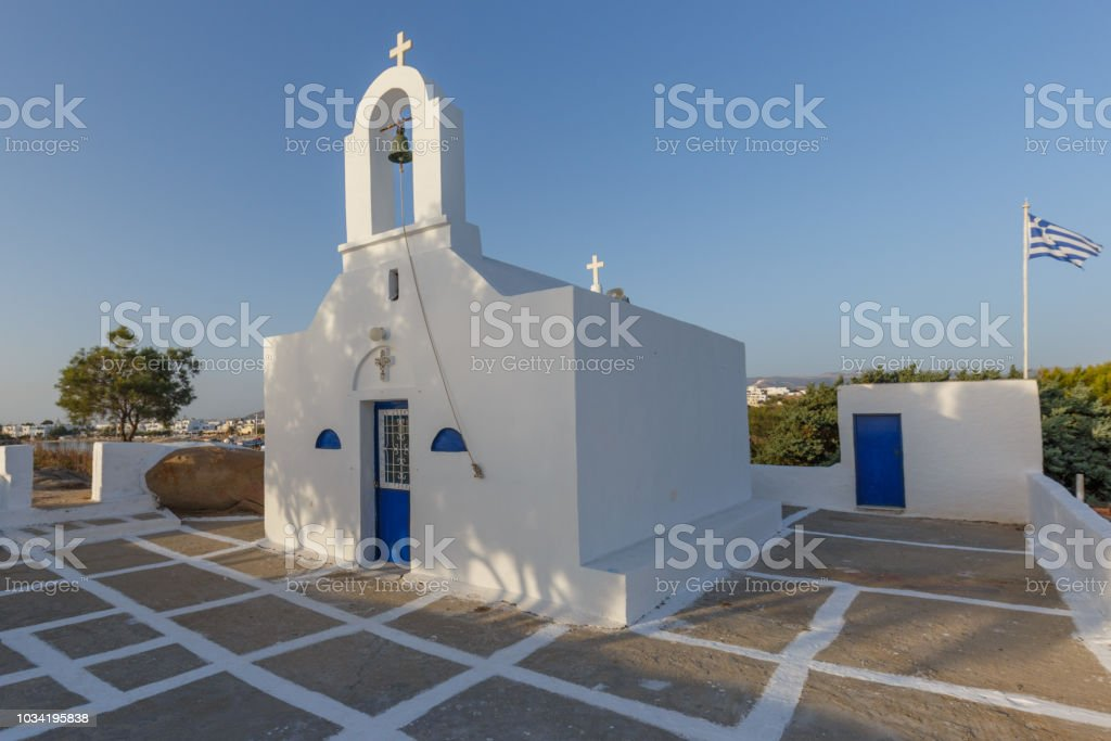Typical Cycladic Church stock photo