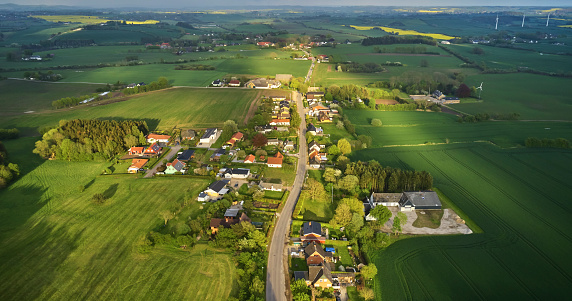 Danish culture. Farms located close to each other during Middle Ages and later split up. But the structure of the old village system still remains. \