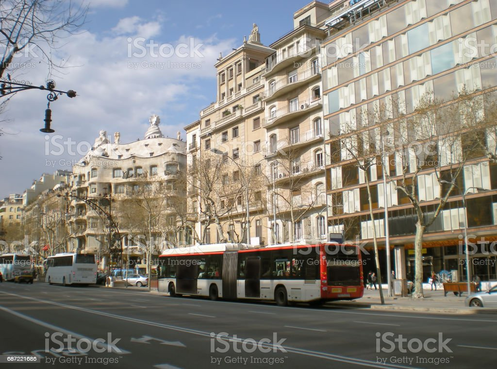 A typical day in Barcelona stock photo