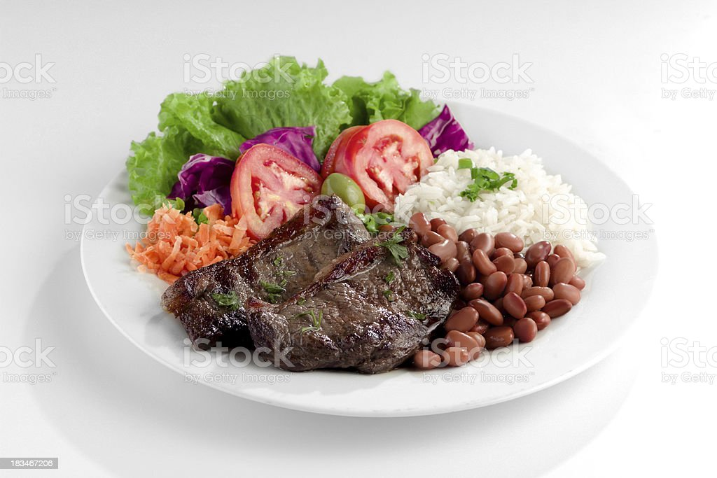 Typical dish of Brazil, rice and beans stock photo