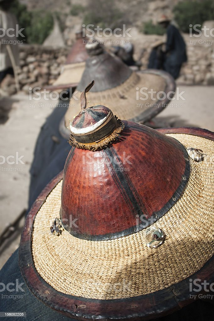 Typical Dogon hat. stock photo