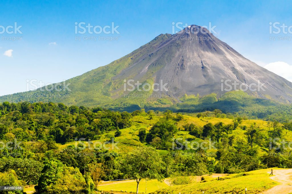 Typical dormant volcano stock photo