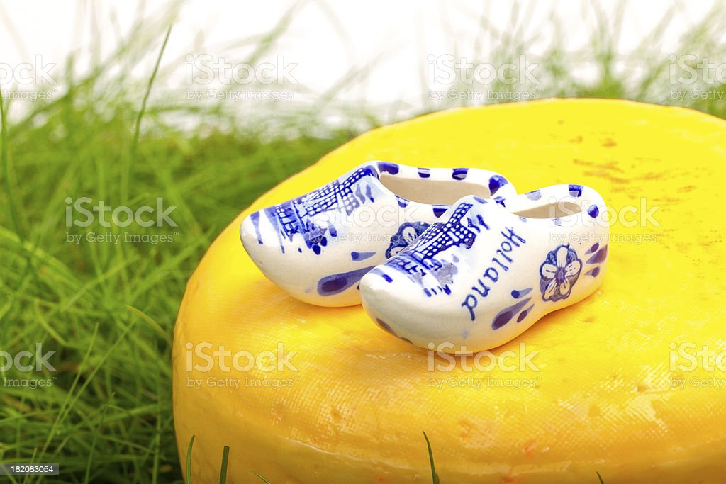 Typical dutch delft blue ceramic royalty-free stock photo