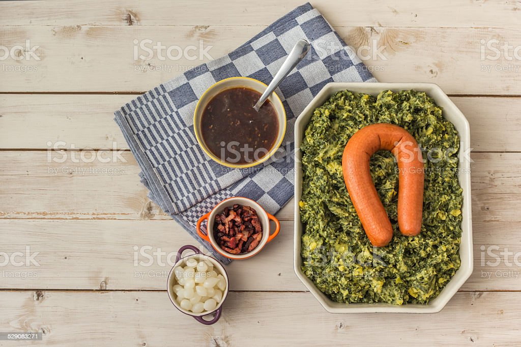Typical dutch dish boerenkool stock photo