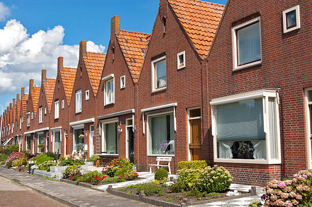 Typical Dutch family houses Modern architecture in Netherlands nederland stock pictures, royalty-free photos & images