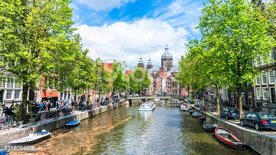 Amsterdam, Amstel River, Europe, Netherlands, North Holland