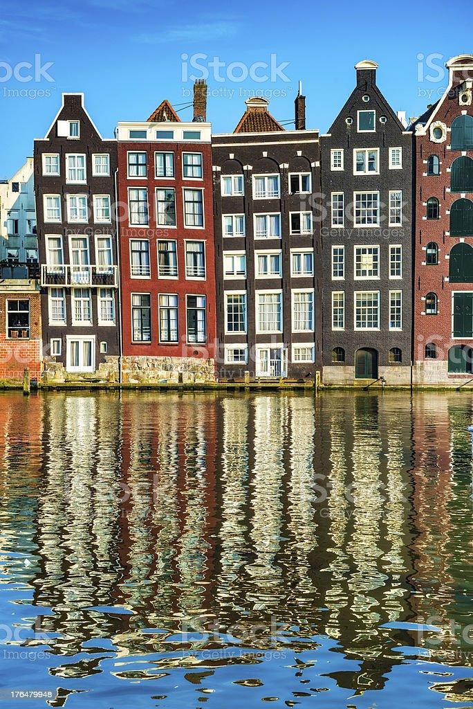 Case tipiche olandesi nel centro di amsterdam fotografie for Case amsterdam economiche