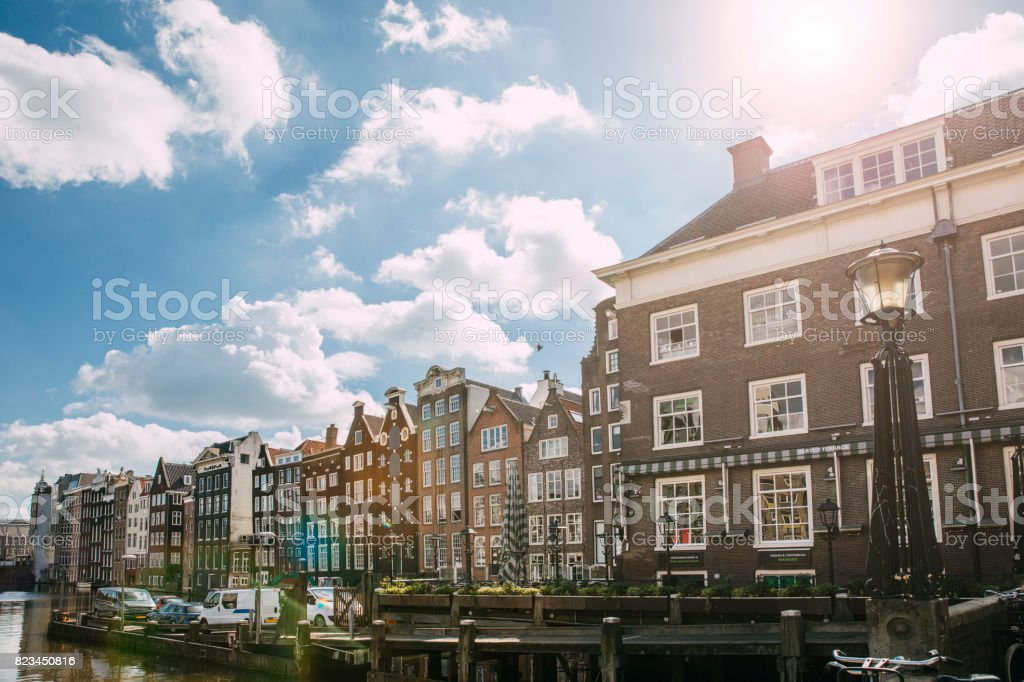 Typical Dutch Housing in Amsterdam stock photo