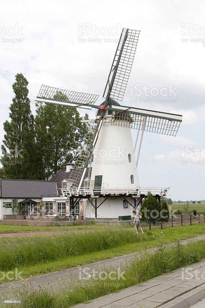typical Dutch mill the Netherlands royalty-free stock photo