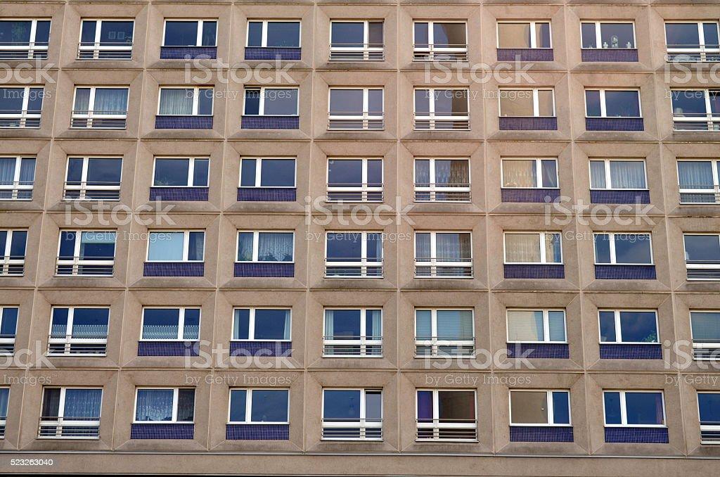 typical east german apartement buildings in berlin stock photo