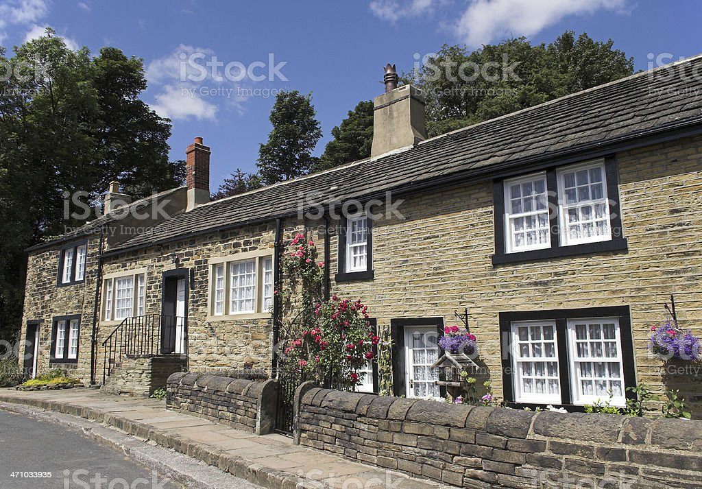 Typical English village cottages royalty-free stock photo