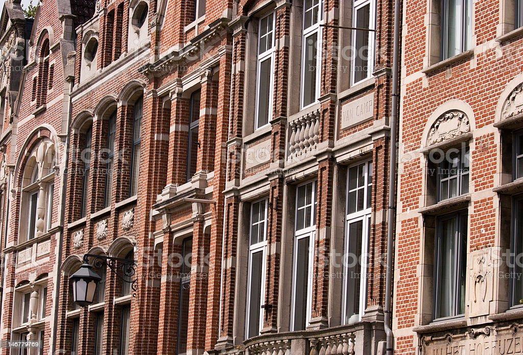 Typical European Street in Belgium (Lier) royalty-free stock photo