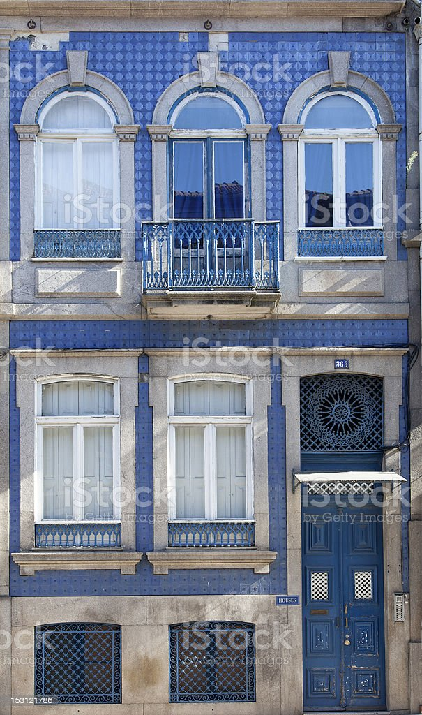Typical facade of Porto (Portugal) royalty-free stock photo