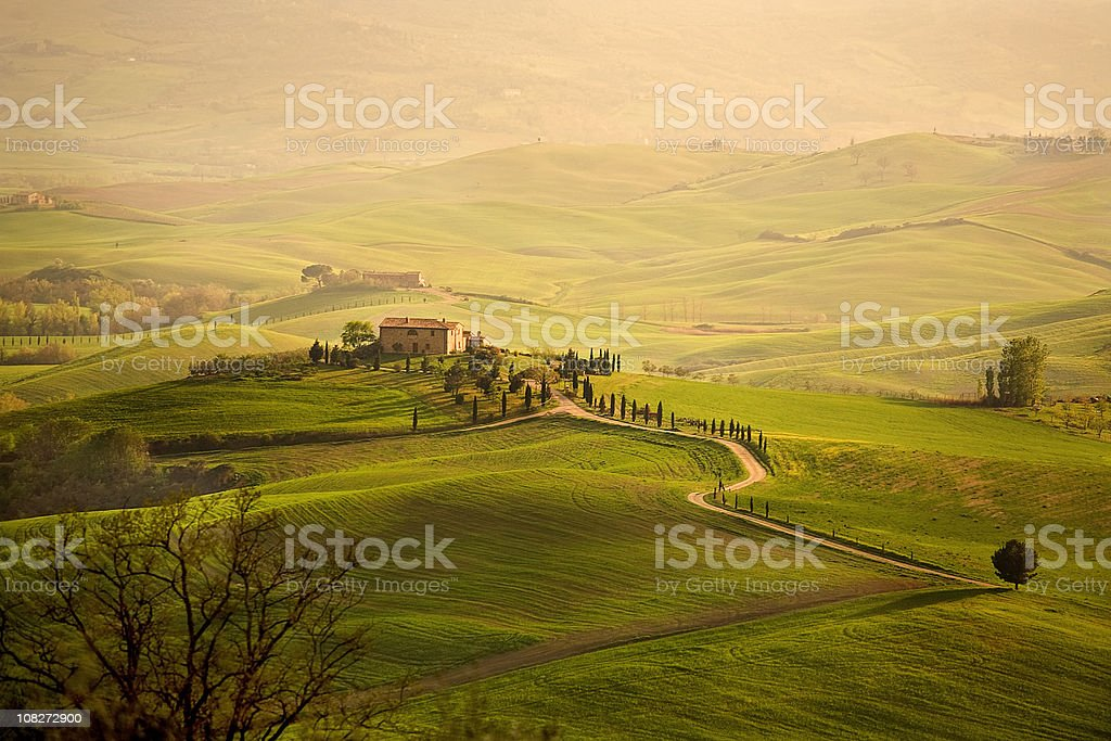 Typical farm in the Tuscany royalty-free stock photo