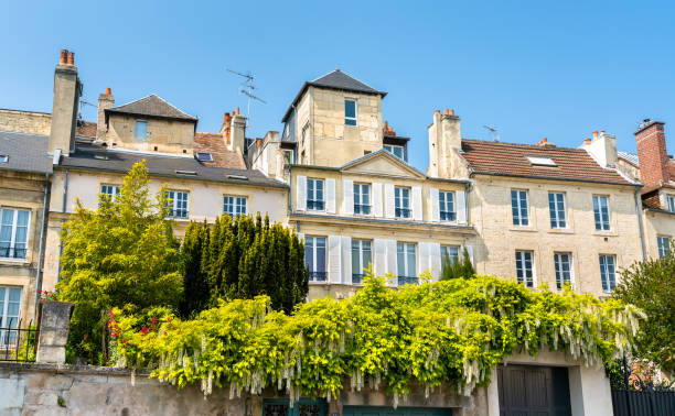 typical french buildings in caen, normandy - caen stock pictures, royalty-free photos & images