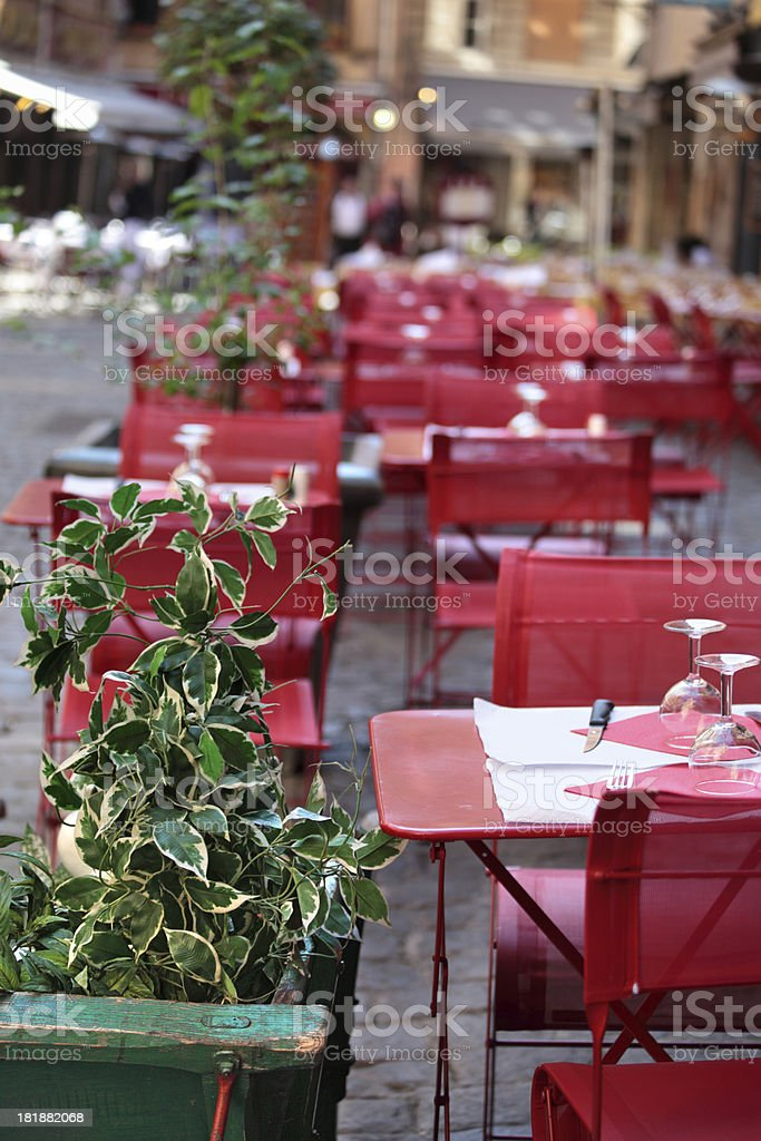 Typical French restaurant scene royalty-free stock photo