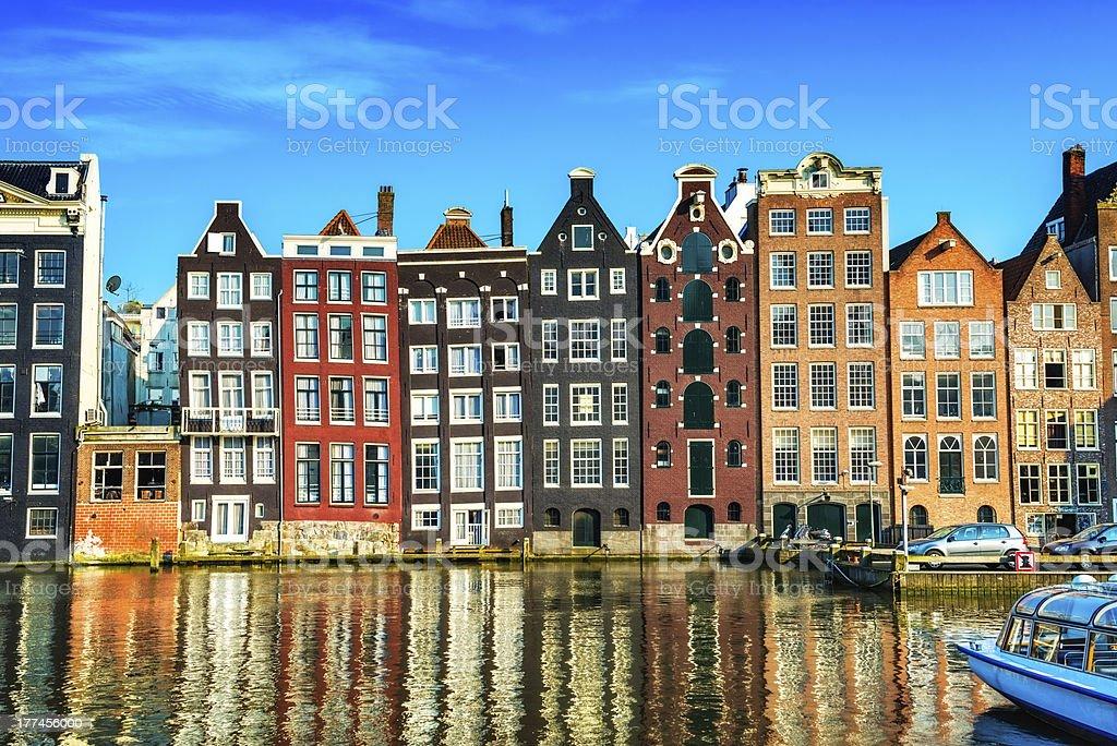 Case tipiche olandesi nel centro di amsterdam fotografie for Centro di amsterdam