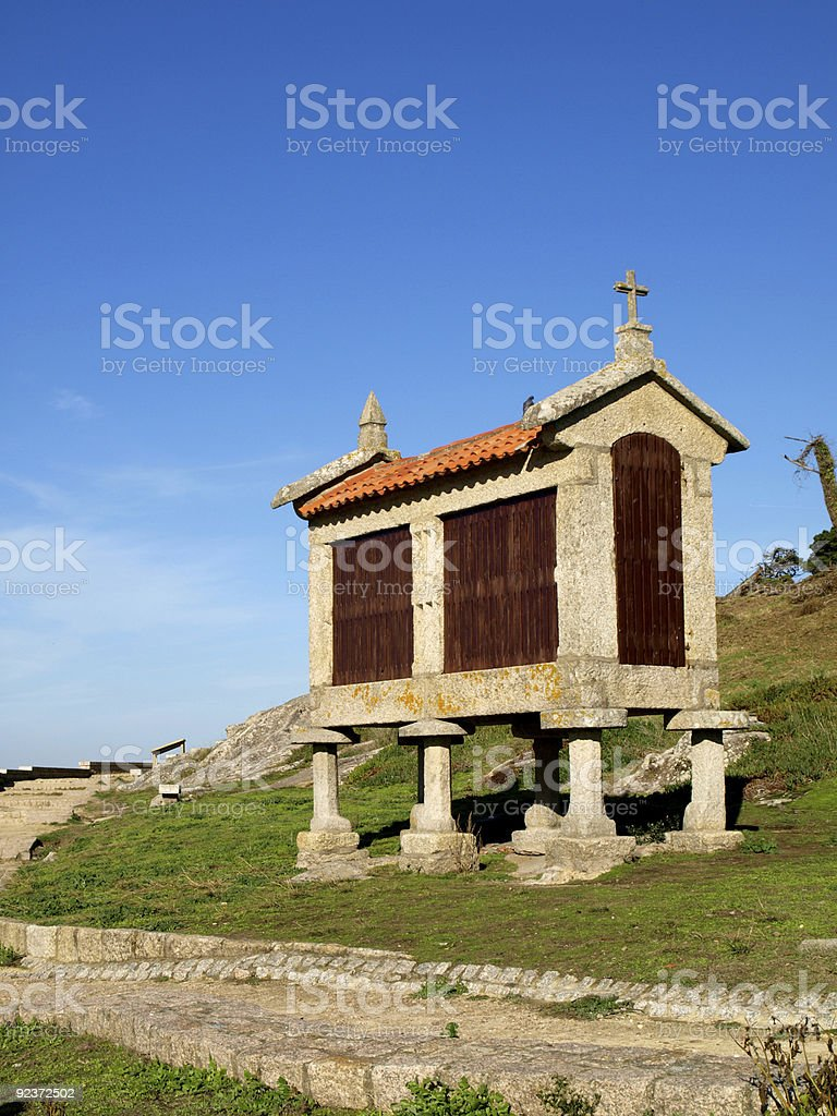 Typical Galician Horreo royalty-free stock photo
