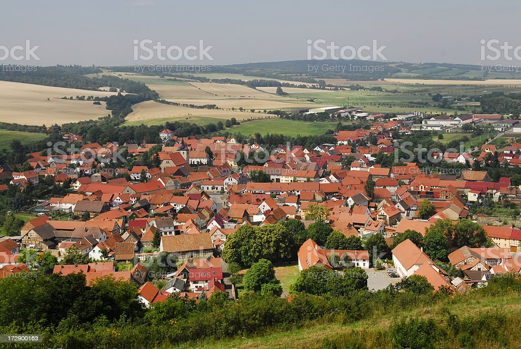 typical german village in thuringia stock photo