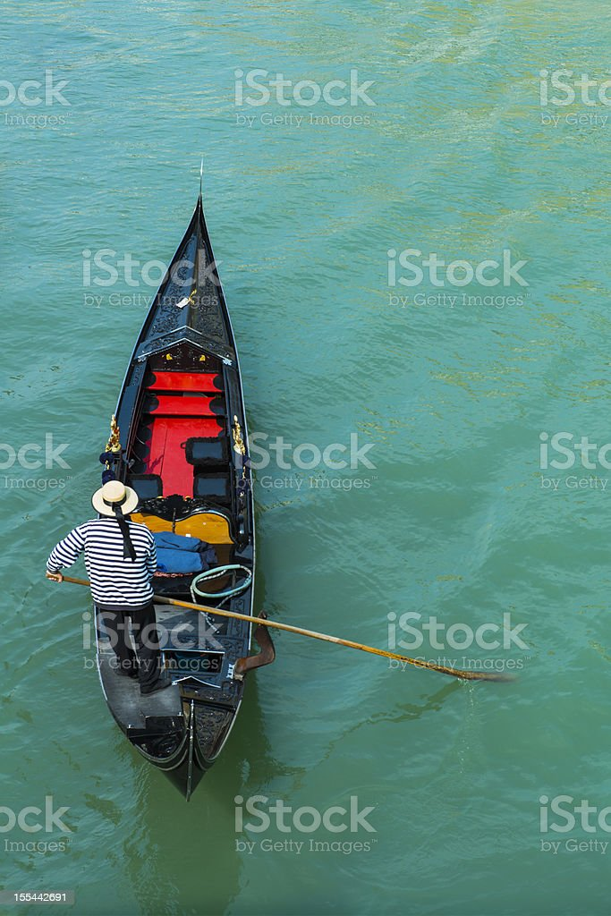 Typical gondola in Venice - Italy stock photo