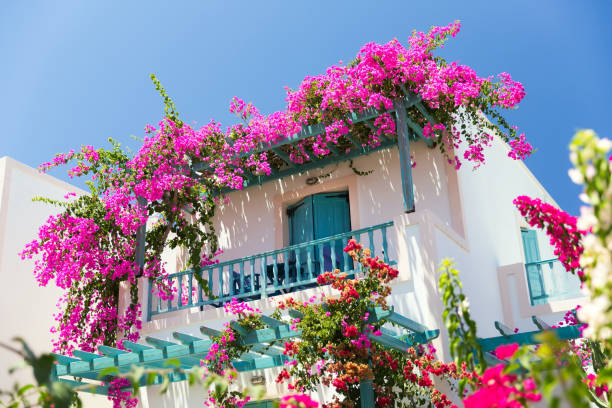 casa griega típica - foto de stock